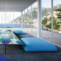 Puf moderno / de tejido / con revestimiento removible / de jardín