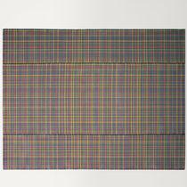 Alfombra moderna / a cuadros / de tejido / rectangular