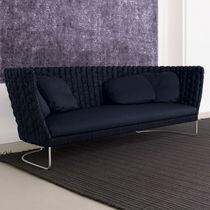 Sofá moderno / de jardín / de tejido / de acero inoxidable
