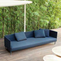 Sofá modular / moderno / de jardín / de acero inoxidable