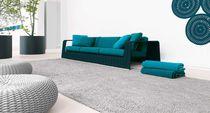 Alfombra moderna / de color liso / de fibras sintéticas / rectangular