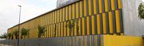 Celosía con lamas de acero / para fachada / orientable