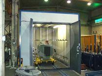 Puerta industrial abatible / de metal / acústica / para la industria alimentaria