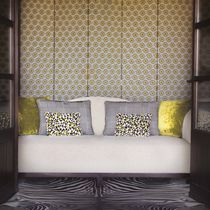 Tela de tapicería / con motivos geométricos / de color liso / de algodón
