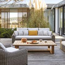 Sofá de estilo / de exterior / de tejido / de resina trenzada