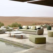 Sofá moderno / de exterior / de tejido / profesional