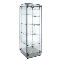 Vitrina moderna / de vidrio / con luz / profesional