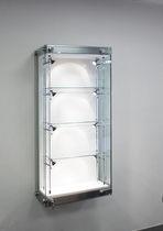 Vitrina moderna / de pared / de vidrio / de acero inoxidable