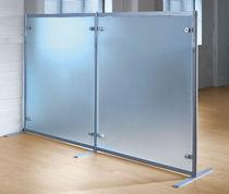 Separador para oficina para suelo / de vidrio / modular