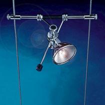 Iluminación sobre cable halógena / redonda / de metal / de interior
