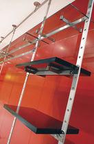Estantería suelo-techo / moderna / de aluminio / para tienda de ropa