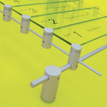 Placa de señalización de pared / fija / de techo / de aluminio