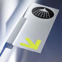 Placa de señalización de orientación / de pared / fija / de aluminio