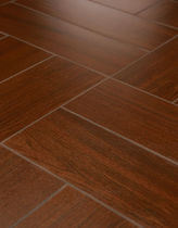 Baldosa de suelo / de gres porcelánico / pulida / imitación parquet