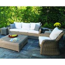 Sofá clásico / para jardín / de mimbre / 3 plazas