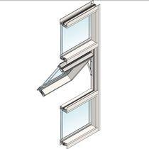 Ventana abatible / basculante / fija / de aluminio