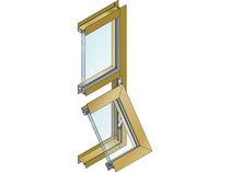 Ventana basculante / de aluminio / con vidrio doble / de corte térmico