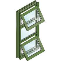 Ventana corredera / basculante / de aluminio / de corte térmico