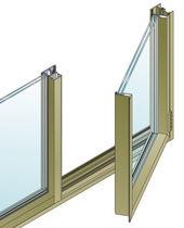 Ventana abatible / de aluminio / con vidrio doble / de corte térmico