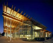 Ventana abatibles / de aluminio / de corte térmico / para edificio comercial