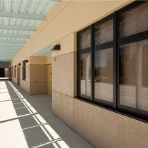 Ventana abatible / de aluminio / para edificio comercial