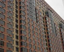 Ventana abatible / de aluminio / de corte térmico / para edificio comercial