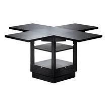 Mesa de diseño Bauhaus / de fresno / extensible / ajustable en altura