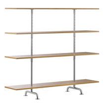 Estantería baja / moderna / de madera lacada / de roble