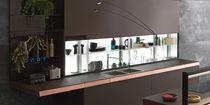 Estantería moderna / de vidrio / para cocina / con luz