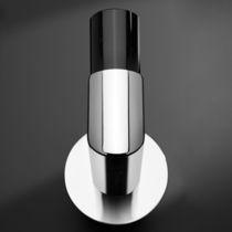 Percha moderna / de metal cromado / de vidrio / para baño