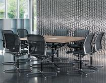 Mesa de reuniones moderna / de madera / de aluminio / rectangular