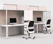 Armario de oficina bajo / alto / de aluminio / de chapa de madera