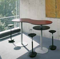 Mesa alta moderna / de metal / rectangular / redonda