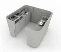 Separador para oficina para suelo / de tejido / insonorizado