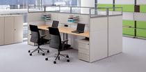 Separador para oficina en encimera / para suelo / de vidrio / laminado