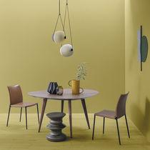 Mesa de comedor moderna / de roble / de nogal / de aluminio