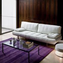 Sofá moderno / de tejido / de cuero / de acero