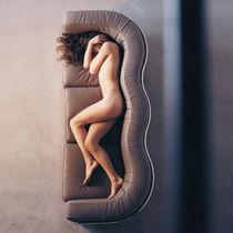 Sofá moderno / de tejido / de cuero / de acero inoxidable