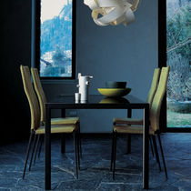 Silla moderna / tapizada / con revestimiento removible / de tejido