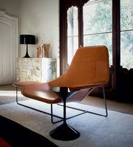 Chaise longue moderna / de tejido / de cuero / de acero