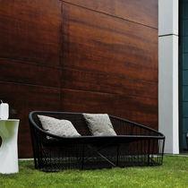 Sofá moderno / para exterior / de acero / de PVC