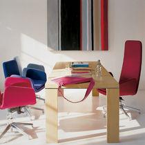 Sillón de oficina moderno / de tejido / de cuero / giratorio