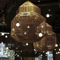 Lámpara suspendida / de diseño original / de chapa / de interior