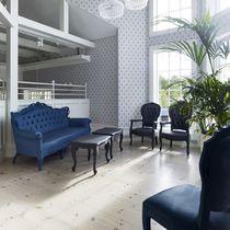 Sofá de diseño nuevo barroco / para exterior / de espuma de poliuretano / 3 plazas