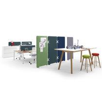 Separador para oficina para suelo / en encimera / de tejido / de plástico
