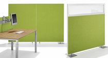 Panel acústico para tabique / de aluminio / de textil / decorativo