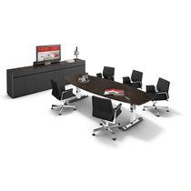 Mesa de conferencia moderna / de metal / de chapa de madera / de HPL