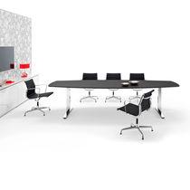 Mesa de reuniones moderna / de metal / de MDF / de chapa de madera