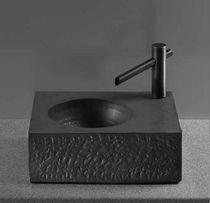 Lavabo sobre encimera / rectangular / moderno / para personas con movilidad reducida