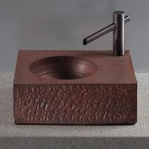 Lavabo sobre encimera / rectangular / moderno / para discapacitados